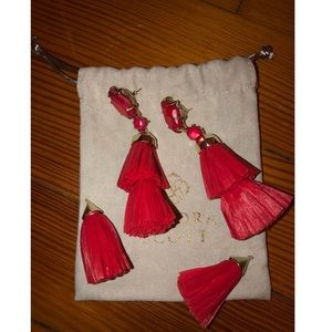 Kendra Scott Jewelry - Kendra Scott Denise tassel earrings in red